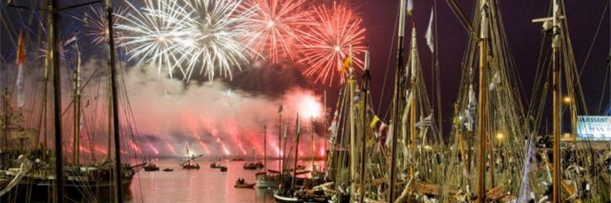 Profitez du feu d'artifice de Brest depuis la mer